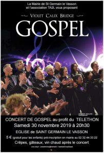 Saint-Germain-le-Vasson. Téléthon : concert gospel, le 30 novembre, avec le VCBG